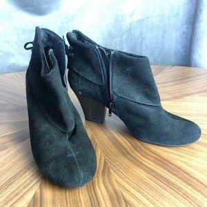 EUC Skechers Black Suede Booties